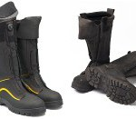 A pair of Blundstone's 980 underground mining boots on the left and, on the right, a pair after a lot of use.